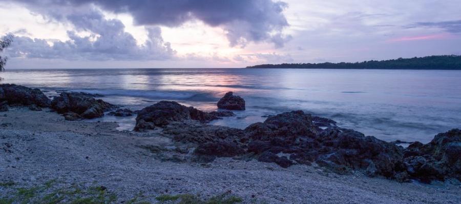 teouma bay from the beach vanuatu